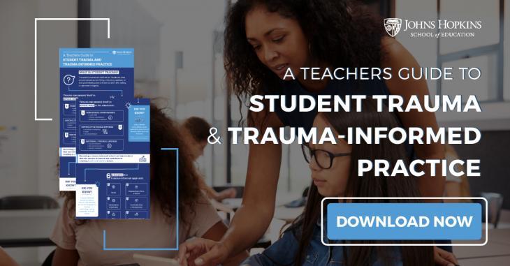 Woman teaching in class - trauma informed teaching.