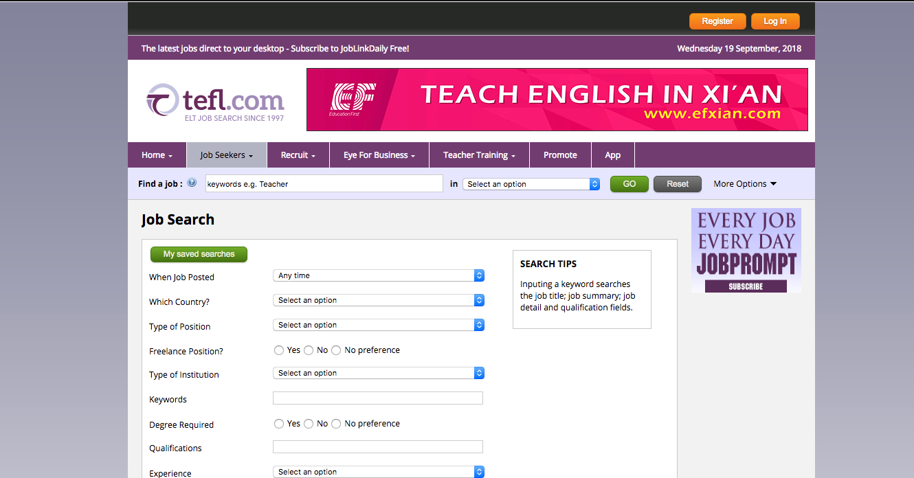 best tefl job sites