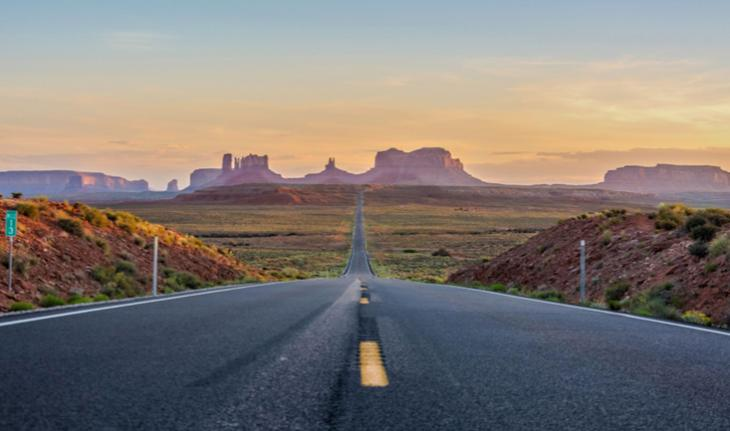view of road leading into monument valley