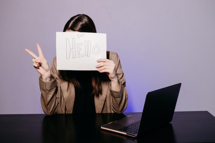 woman teaching English online - how to make teaching english interesting.