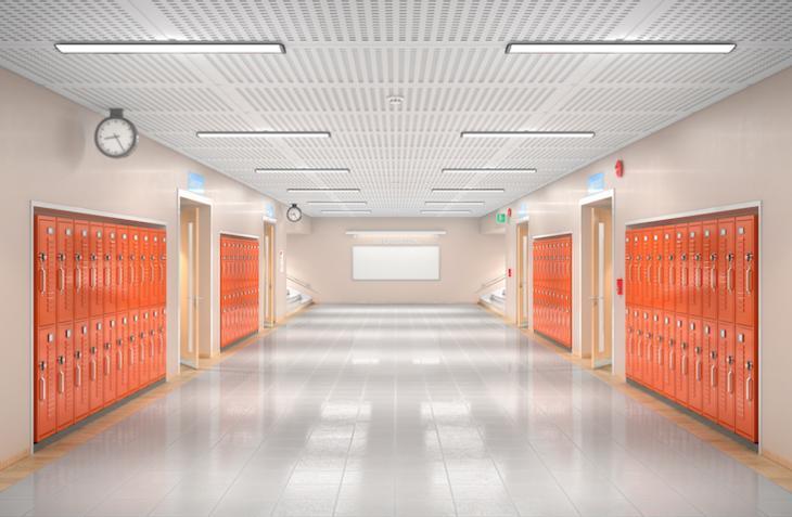 empty hallway at school