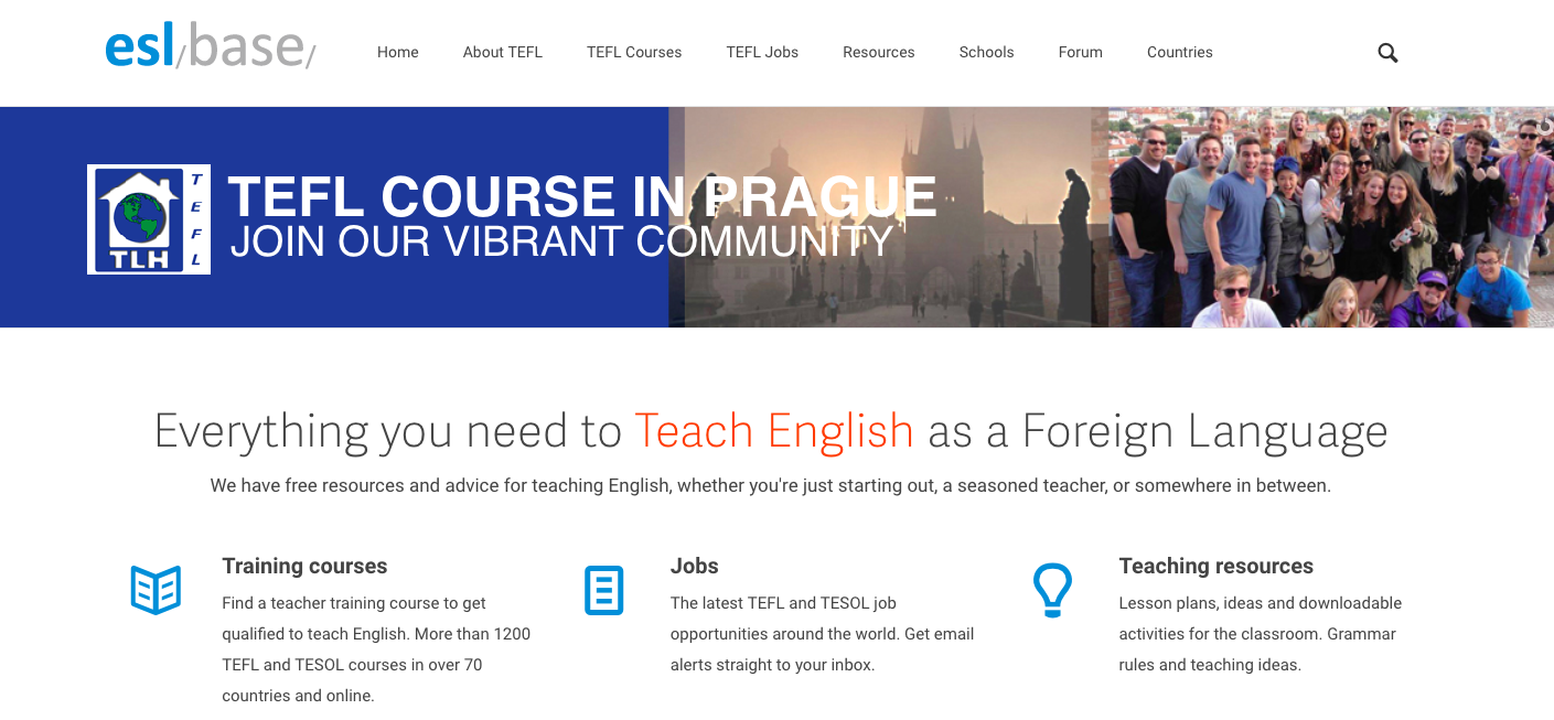 teach english abroad job board