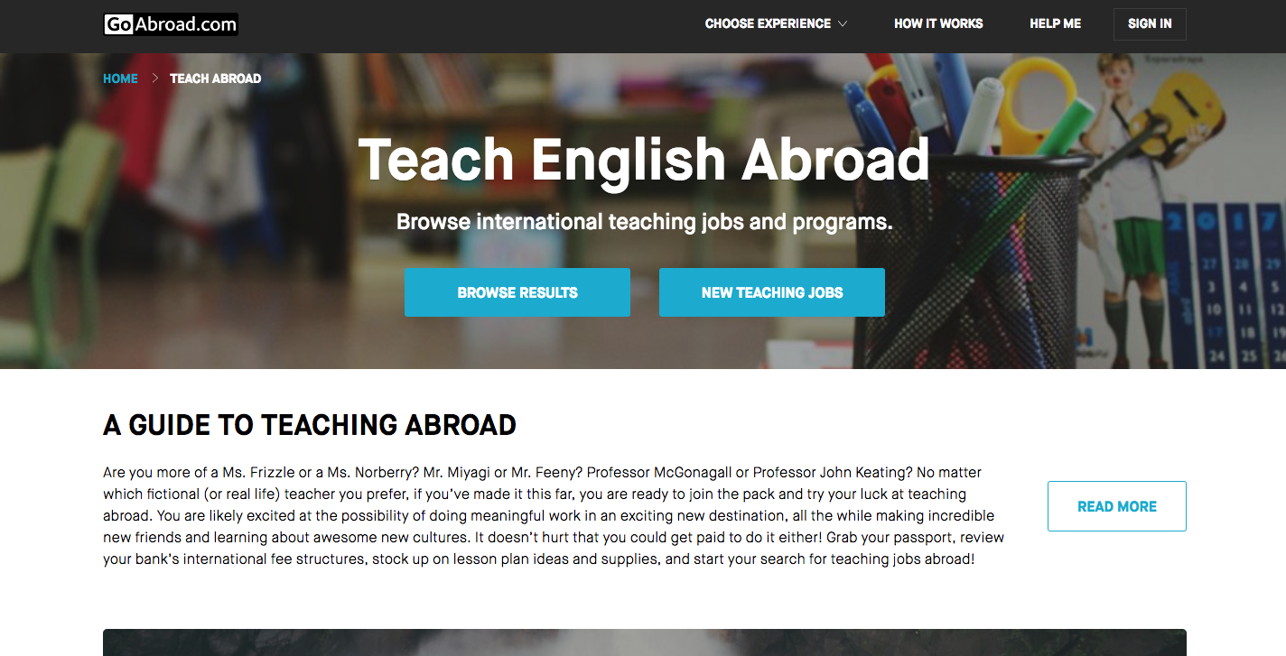 teaching english abroad job openings