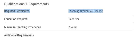 What is a teaching licence