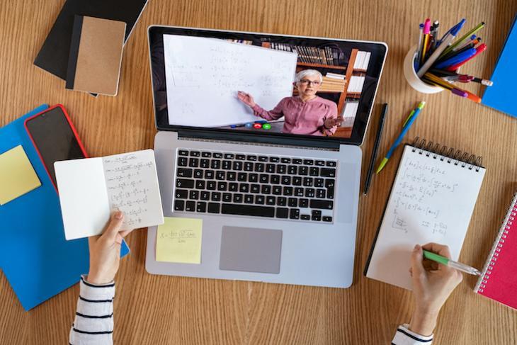 teacher teaching class online - will online learning replace classroom teaching
