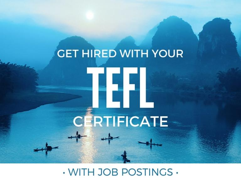 get hired with your tefl certification (with job postings) | teach away